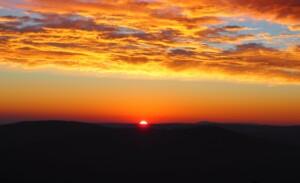 Sonnenaufgang am Arbergipfel