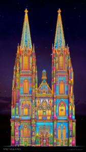Dom St. Peter in Regensburg illuminiert