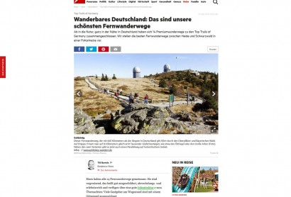 """Der """"Stern"""" zählt den Goldsteig zu den 14 schönsten Wanderwegen Deutschlands"""