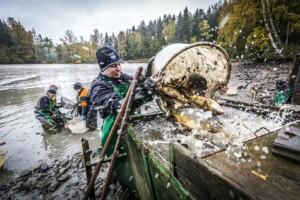 Karpfenabfischen im Land der Tausend Teiche