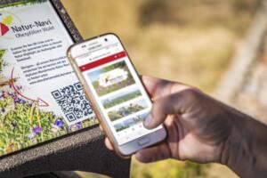 Nutzung des QR-Codes an einem der 100 Natur-Highlights