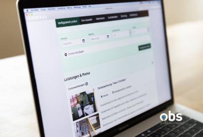 OBS: Die Onlinebuchbarkeit auf der eigenen Homepage