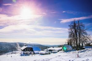 Skigebiet Mitterdorf im Bayerischen Wald