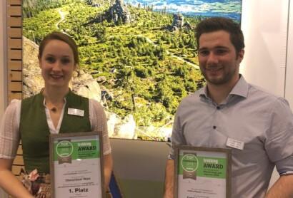 Goldsteig und Oberpfälzer Wald erhalten ersten Platz beim Trekking-Award 2019