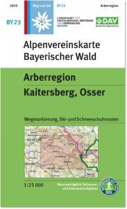 Alpenvereinskarte für ein Mittelgebirge