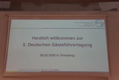 5. Deutsche Gästeführertagung des BVGD in Straubing