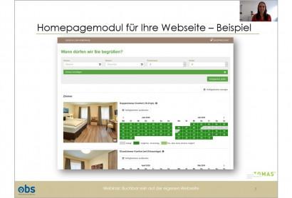 OBS Webinar: Die Homepagebuchung ist zweitstärkster Vertriebskanal