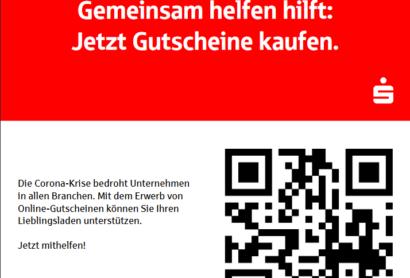 Gemeinsam da durch: Gutschein-Hilfsaktion der Sparkassen während der Corononakrise