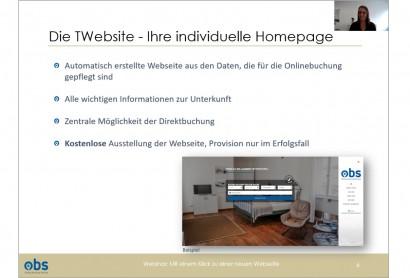 OBS Webinar: Mit einem Klick zu einer neuen Webseite