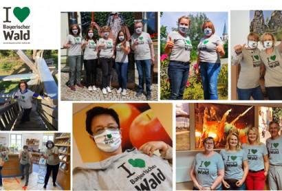I♥︎ Bayerischer Wald T-Shirts in Touristinfos eingetroffen