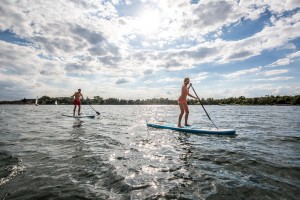 Stand Up Paddling Steinberger See