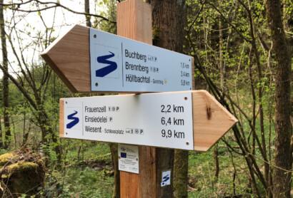Neuer Goldsteig Verbindungswanderweg von Brennberg nach Wiesent eröffnet