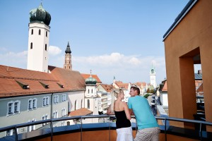 Straubing - Blick über die Altstadt