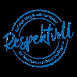 """Logo """"Respektvoll"""" blau"""