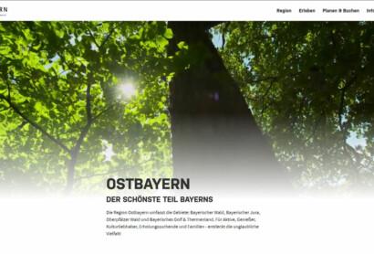 Neu gestaltet: www.ostbayern-tourismus.de