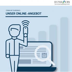 """Titelseite Flyer """"Unser Online-Angebot - Stark im Tourismus"""""""