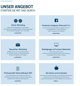 """Innenseite Flyer: """"Unser Online-Angebot - Stark im Tourismus"""""""