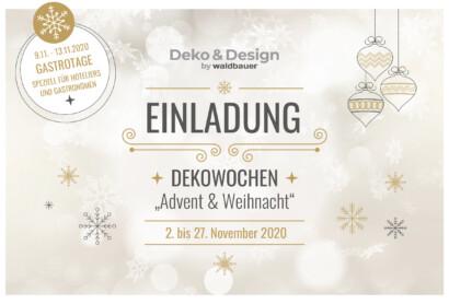 """Dekowochen """"Advent & Weihnacht"""" mit speziellen Gastrotagen bei Waldbauer"""