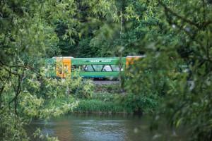 Waldbahnfahrt