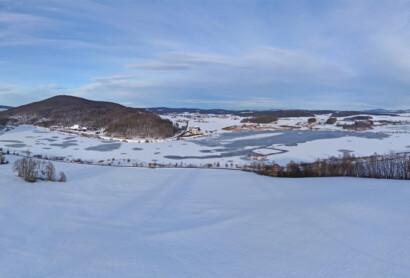 Winterwanderweg am Further Drachensee