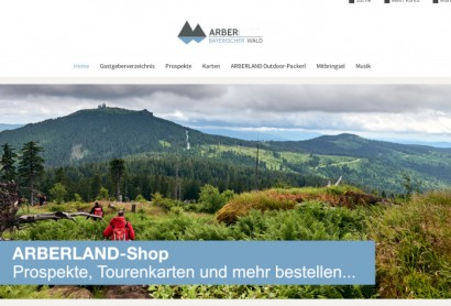 ARBERLAND Online-Shop in neuem Design