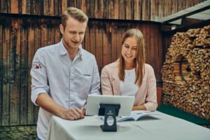 Beratungssituation Onlinebuchung
