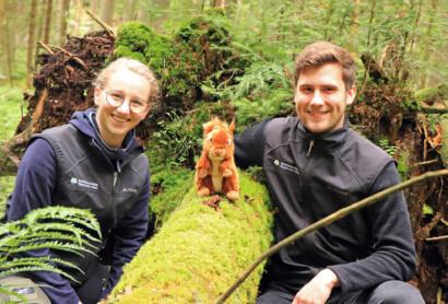 Audioguide: Eichhörnchen Emil führt durchs Waldspielgelände