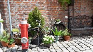 Radfahrer-Rastplatz