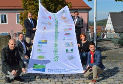 Die Gartenschau-Fahne weht nun in Freyung