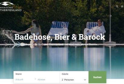 Neue Webseite des Bayerischen Golf- und Thermenlandes online