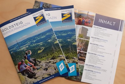 Aktuelles Goldsteig Wandermagazin-jetzt bestellen